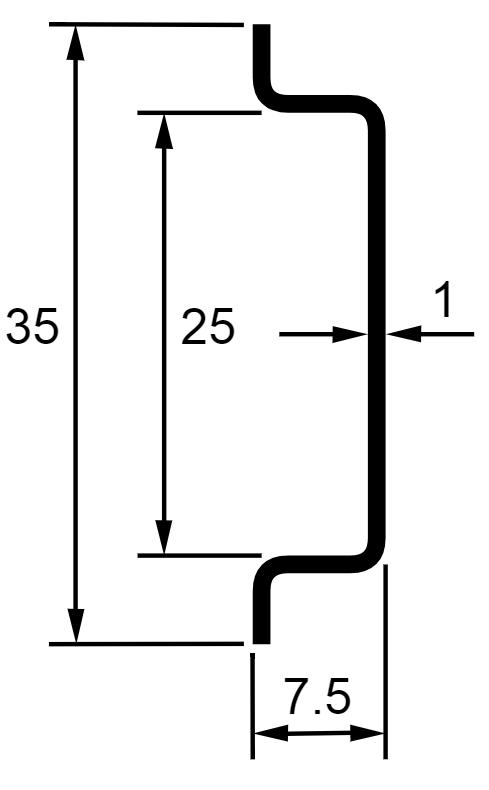 Lista Nosna Ts35 2 7 5 Din Lista Perforovana Hloubka 7 5mm 2m